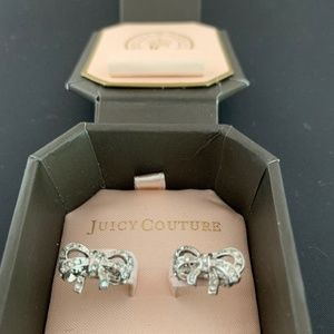 Juicy Couture Pave Bow Earrings